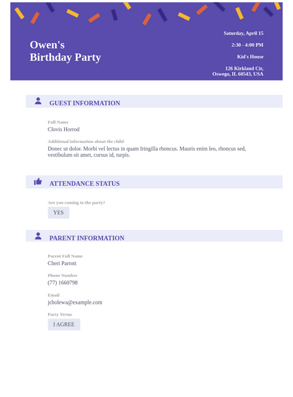 Professional Birthday Party Invitation Template