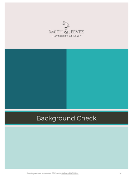 Background Check Template