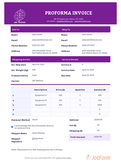 40 Free Invoice Templates Jotform