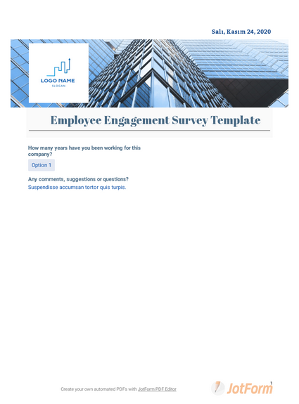 Employee Engagement Questionnaire Template